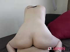 Japanese Teen Strips And Bends Over For Creampie